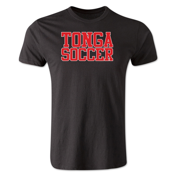 Tonga Soccer Supporter Men's Fashion T-Shirt (Black)