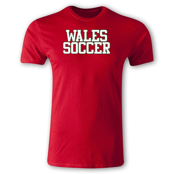 Wales Soccer Supporter Men's Fashion T-Shirt (Red)