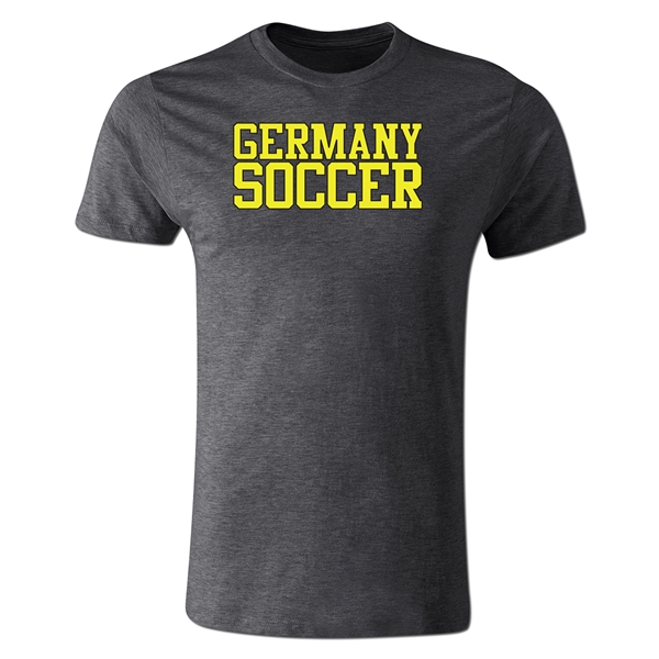 Germany Soccer Supporter Men's Fashion T-Shirt (Dk Gray)