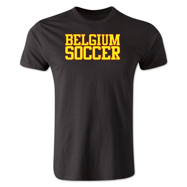 Belgium Soccer Supporter Men's Fashion T-Shirt (Black)