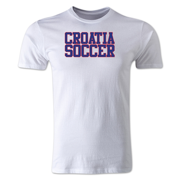 Croatia Soccer Supporter Men's Fashion T-Shirt (White)