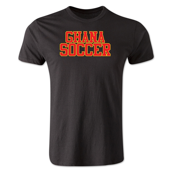 Ghana Soccer Supporter Men's Fashion T-Shirt (Black)