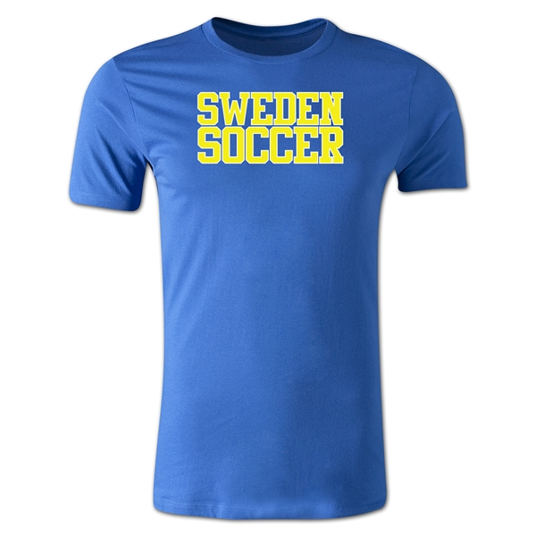 Sweden Soccer Supporter Men's Fashion T-Shirt (Royal)