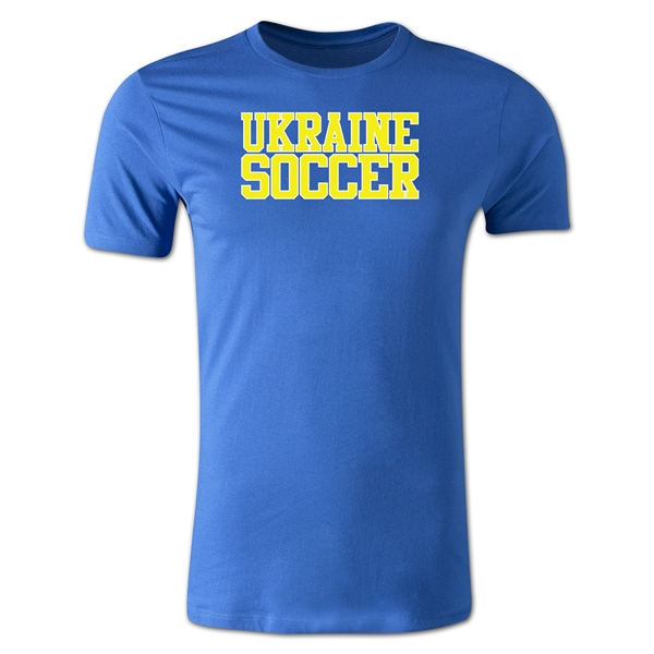 Ukraine Soccer Supporter Men's Fashion T-Shirt (Royal)