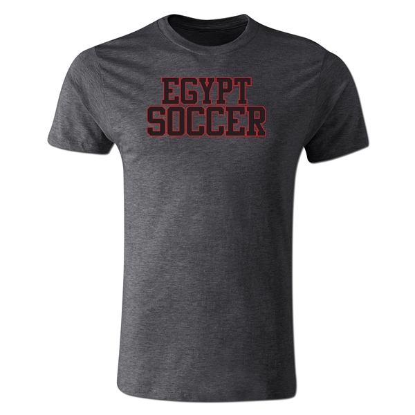 Egypt Soccer Supporter Men's Fashion T-Shirt (Dk Gray)