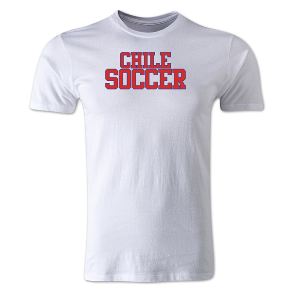 Chile Soccer Supporter Men's Fashion T-Shirt (White)