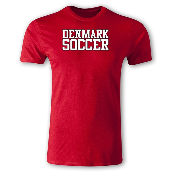 Denmark Soccer Supporter Men's Fashion T-Shirt (Red)