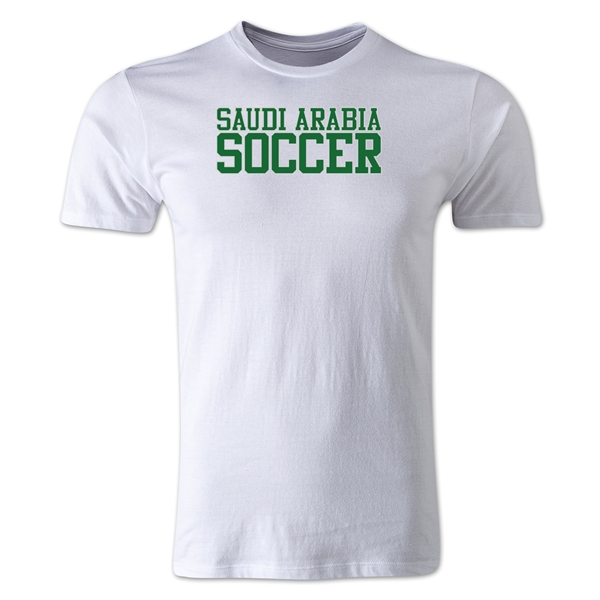 Saudi Arabia Soccer Supporter Men's Fashion T-Shirt (White)
