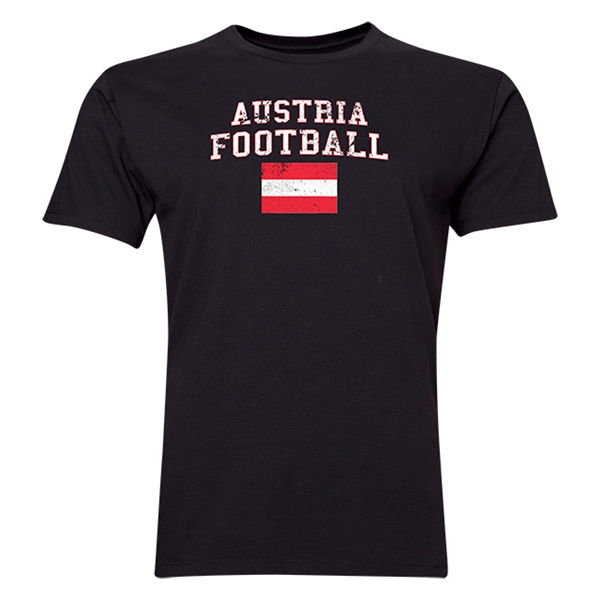 Austria Football T-Shirt (Black)