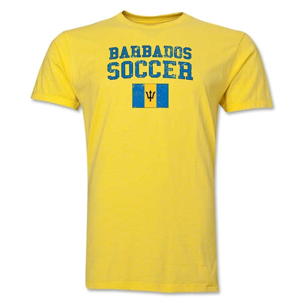 Barbados Soccer T-Shirt (Yellow)