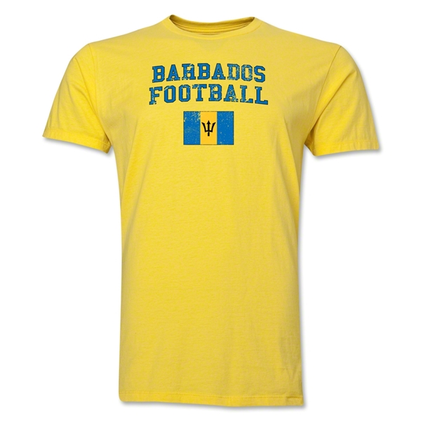Barbados Football T-Shirt (Yellow)