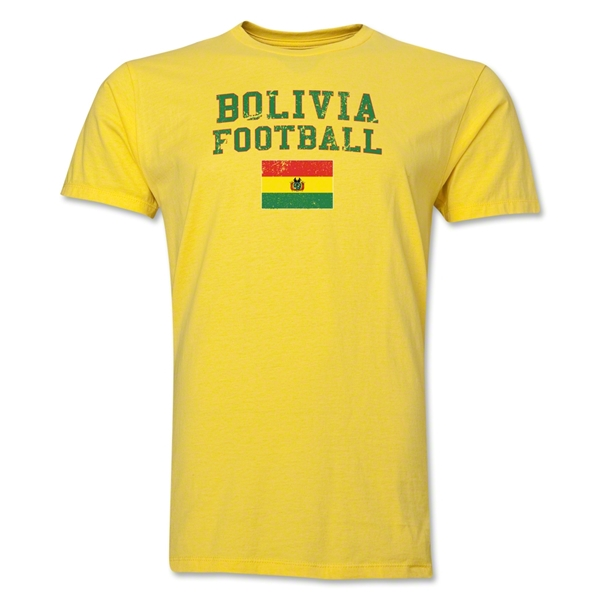 Bolivia Football T-Shirt (Yellow)