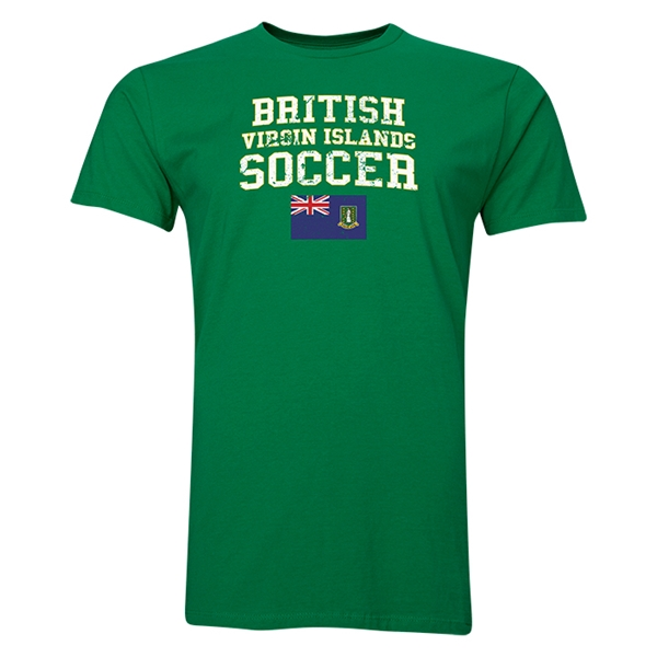 British Virgin Islands Soccer T-Shirt (Green)