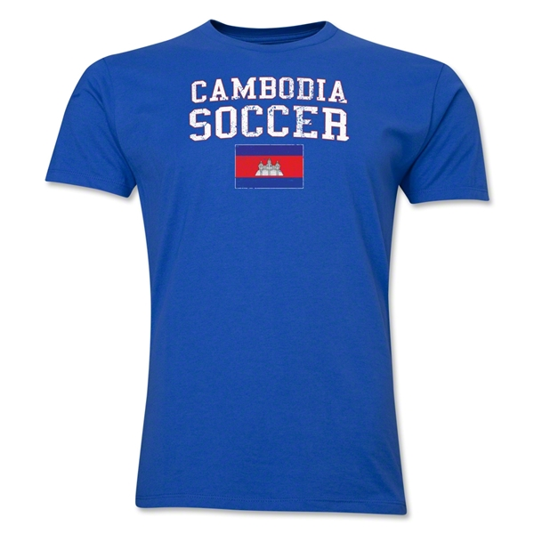 Cambodia Soccer T-Shirt (Royal)
