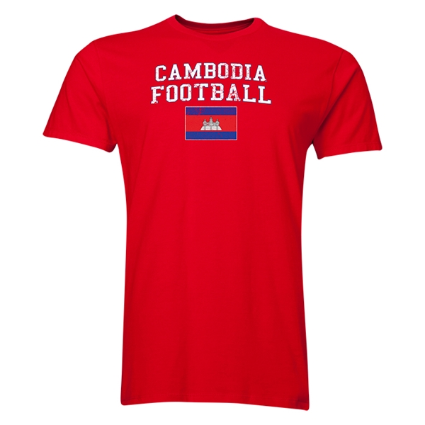 Cambodia Football T-Shirt (Red)