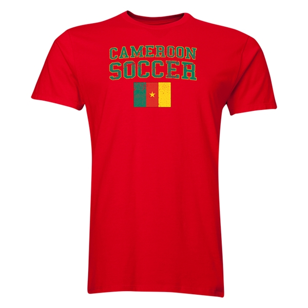 Cameroon Soccer T-Shirt (Red)