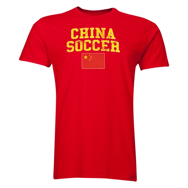 China Soccer T-Shirt (Red)