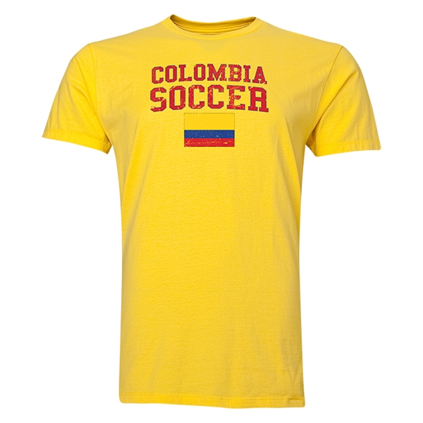 Colombia Soccer T-Shirt (Yellow)