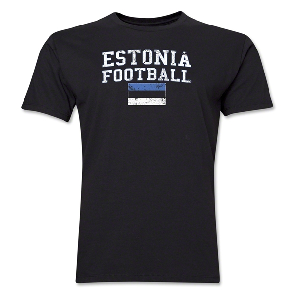 Estonia Football T-Shirt (Black)