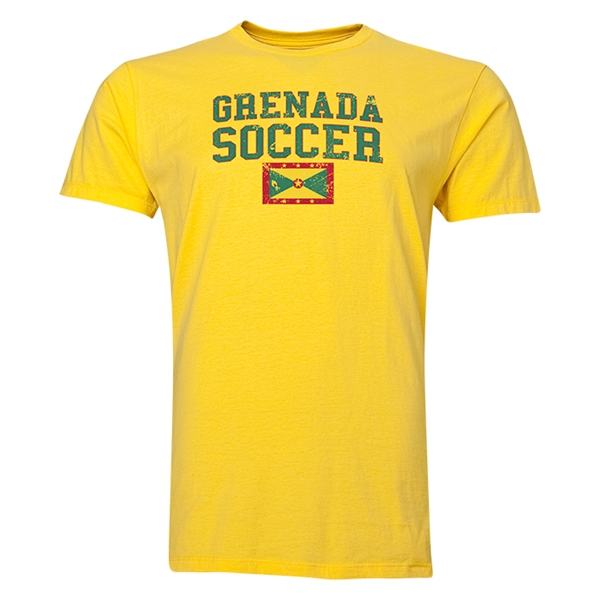 Grenada Soccer T-Shirt (Yellow)