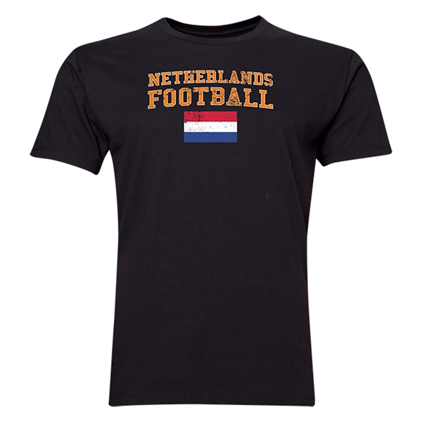 Netherlands Football T-Shirt (Black)
