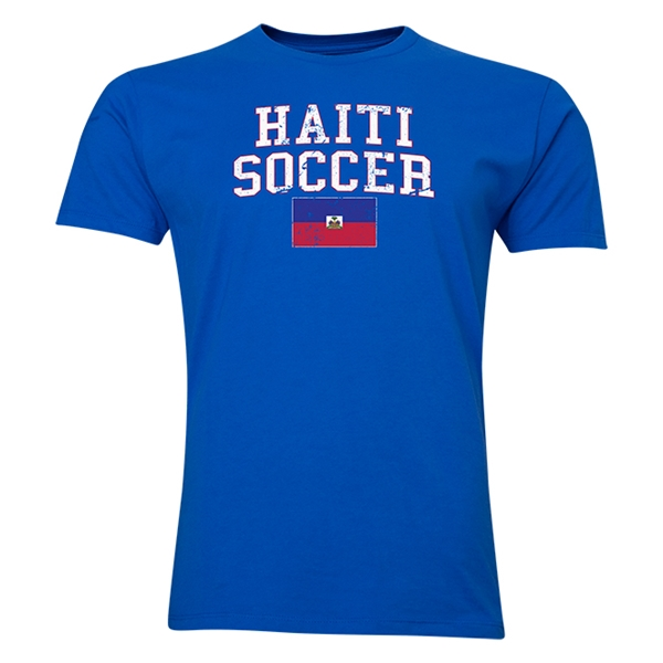 Haiti Soccer T-Shirt (Royal)
