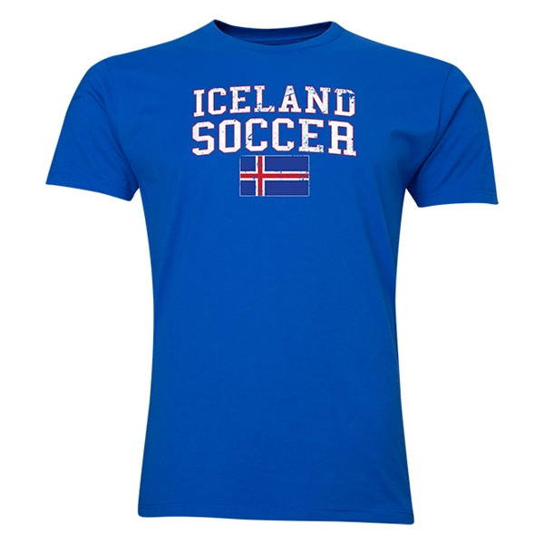 Iceland Soccer T-Shirt (Royal)