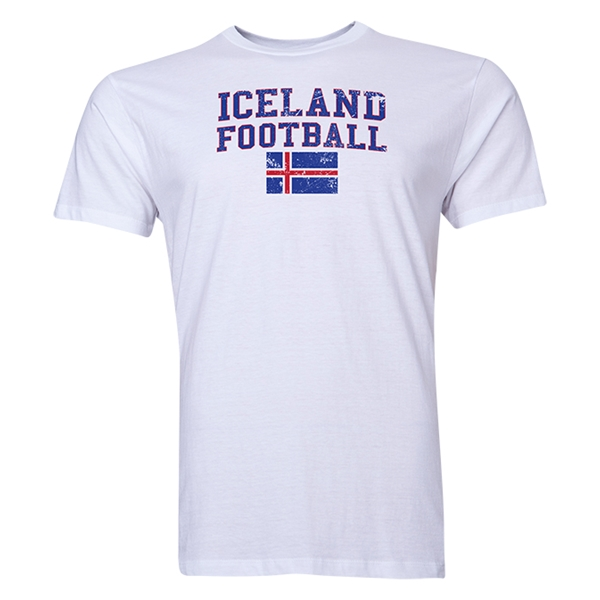 Iceland Football T-Shirt (White)