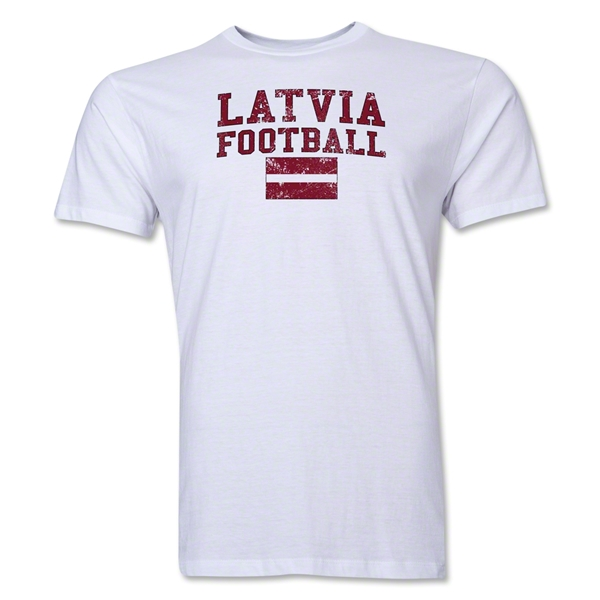 Latvia Football T-Shirt (White)