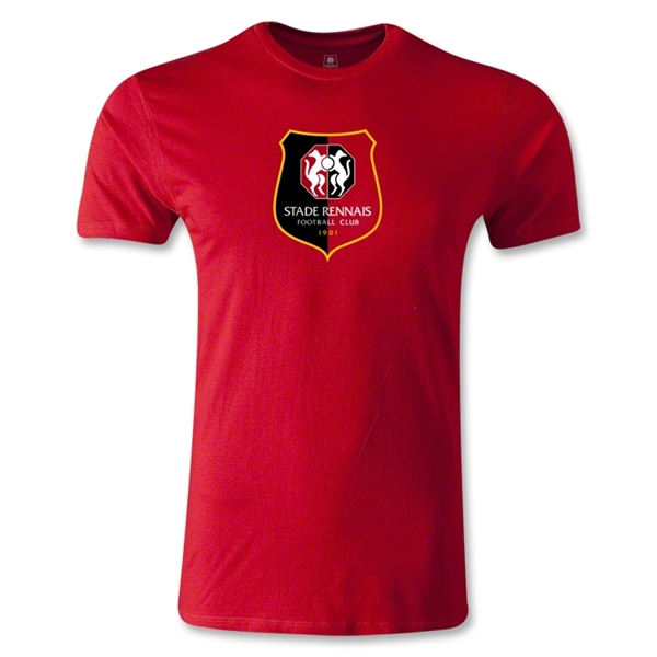 Stade Rennais FC Crest Men's Fashion T-Shirt (Red)