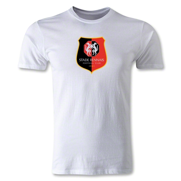 Stade Rennais FC Crest Men's Fashion T-Shirt (White)