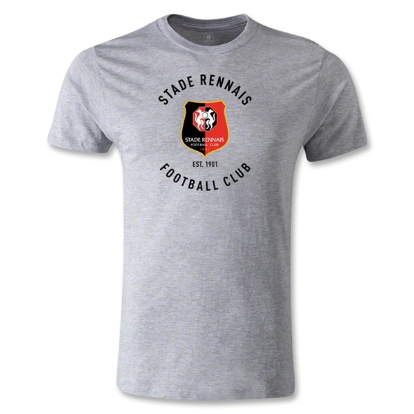 Stade Rennais FC Graphic Men's Fashion T-Shirt (Gray)