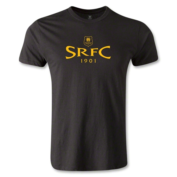 Stade Rennais FC SRFC Men's Fashion T-Shirt (Black)