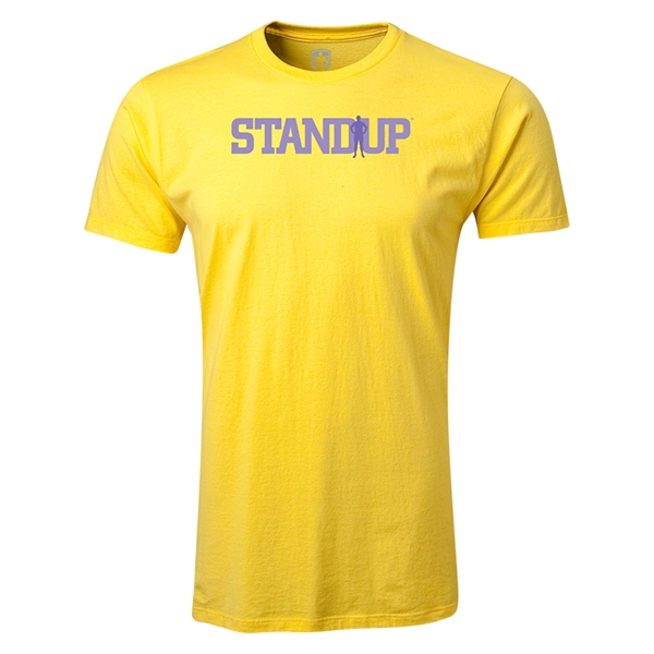 StandUp Logo Men's Fashion T-Shirt (Yellow)