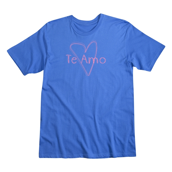 Te Amo Men's Fashion T-Shirt (Royal)