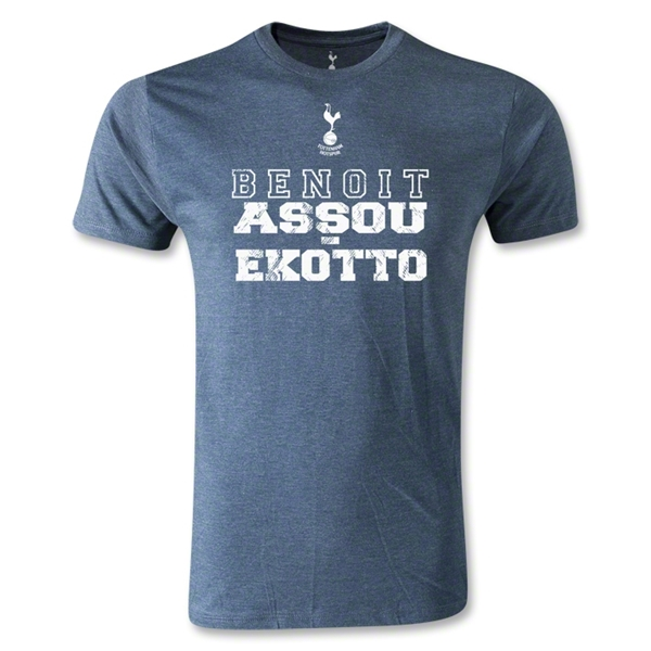 Tottenham Benoit Assou-Ekotto Men's Fashion T-Shirt (Blue)