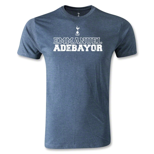 Tottenham Emmanuel Adebayor Distressed T-Shirt (Blue)