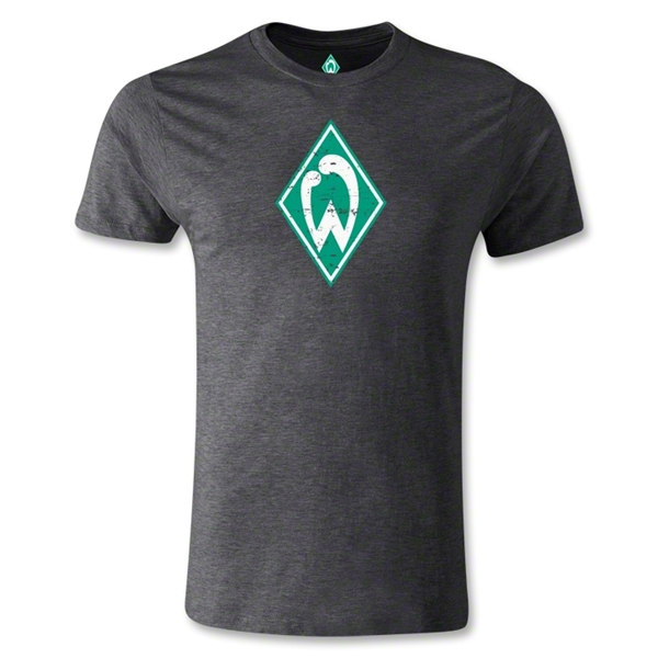 Werder Bremen Distressed Men's Fashion T-Shirt (Dark Gray)