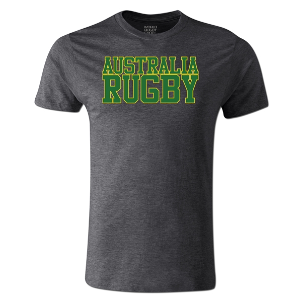 Australia Supporter Rugby T-Shirt (Dark Gray)