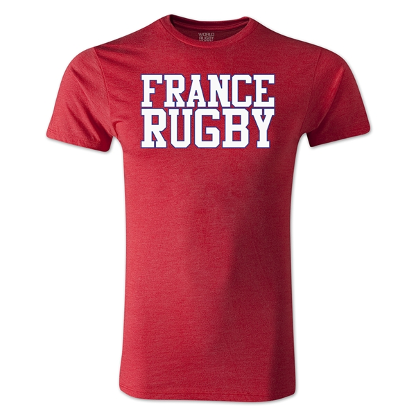 France Supporter Rugby T-Shirt (Heather Red)