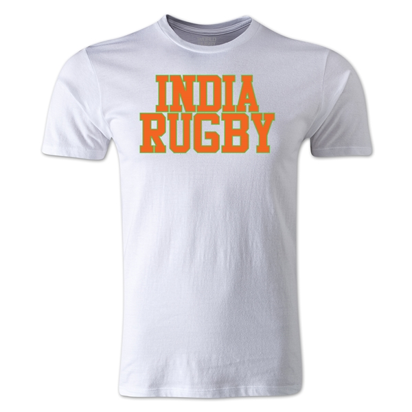 India Supporter Rugby T-Shirt (White)