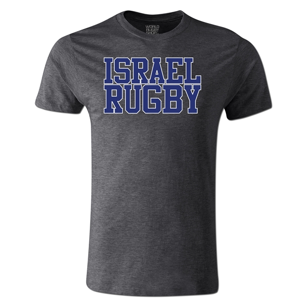 Israel Supporter Rugby T-Shirt (Dark Gray)