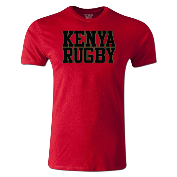 Kenya Supporter Rugby T-Shirt (Red)