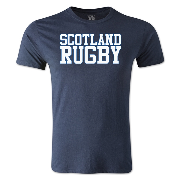 Scotland Supporter Rugby T-Shirt (Navy)