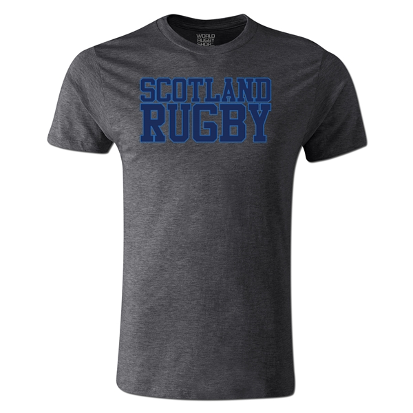 Scotland Supporter Rugby T-Shirt (Dark Gray)