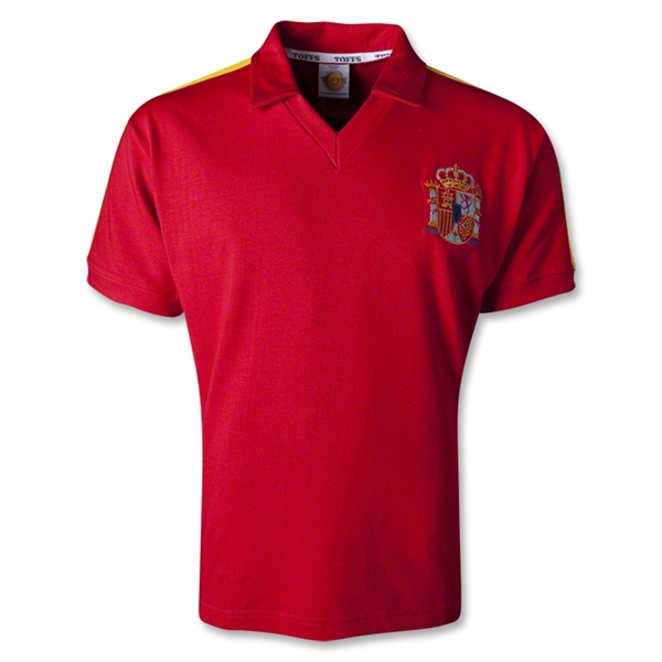 Spain 1982 Home Soccer Jersey