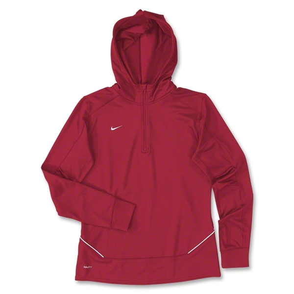 Nike LS Women's Training Hoody (Red)