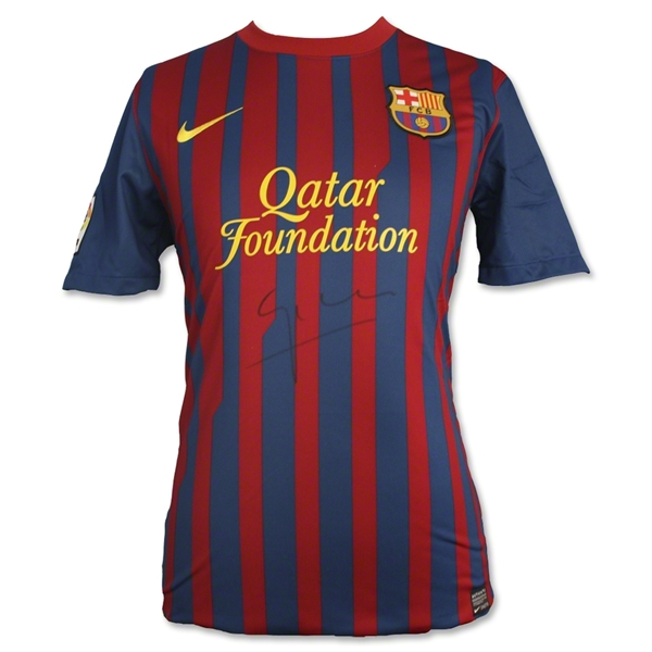 ICONS Pep Guardiola Signed Barcelona 2012 Soccer Jersey