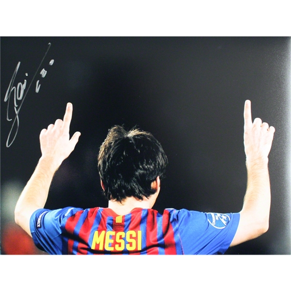 ICONS Signed Leo Messi Barcelona Photo