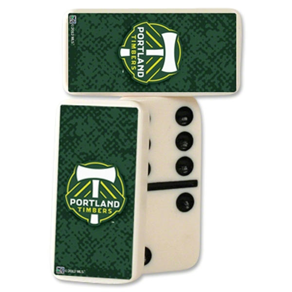 Portland Timbers Double-Six Domino Set
